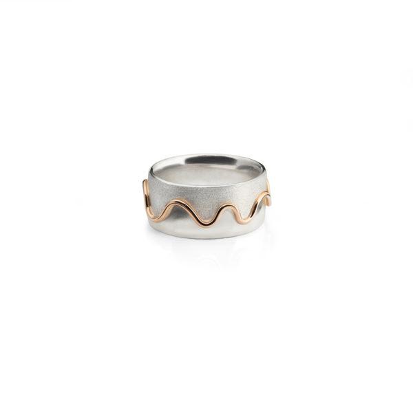 Sidabro ir aukso žiedas Upelis, YURGA