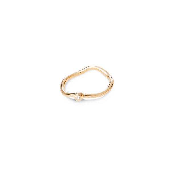 Aukso žiedas Karūnėlė su briliantu, YURGA
