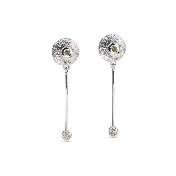 Ilgi sidabriniai auskarai Obelele