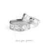 Vestuviniai žiedai su Brangakmeniais YURGA