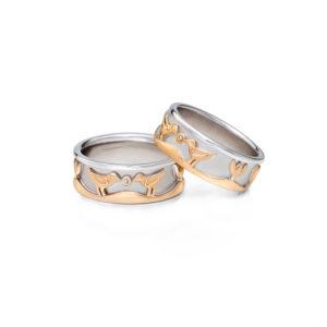 Vestuviniai žiedai Rojaus paukšteliai, YURGA