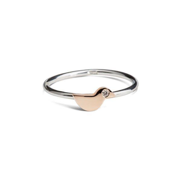Auksinis sužadėtuvių žiedas Mažas Paukštelis