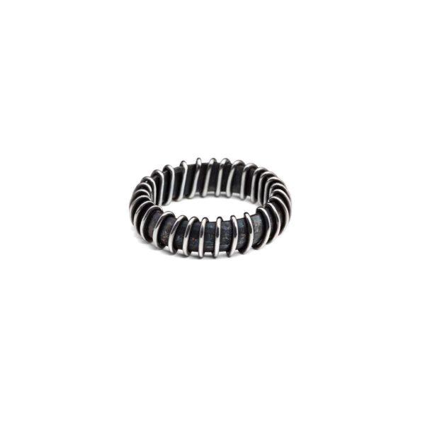 Rankų darbo sidabro žiedas