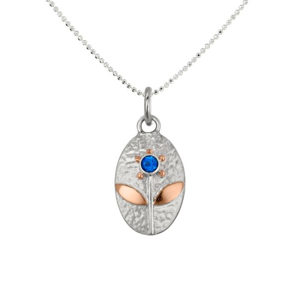 Pakabukas Žydėjimas, Silver pendant Blooming