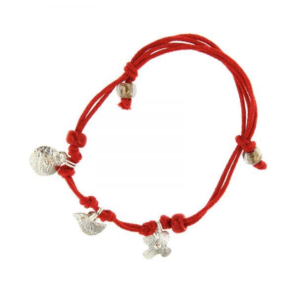 Simboliška apyrankė Red line amulet