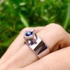 Aukso žiedas su safyru Namai, YURGA