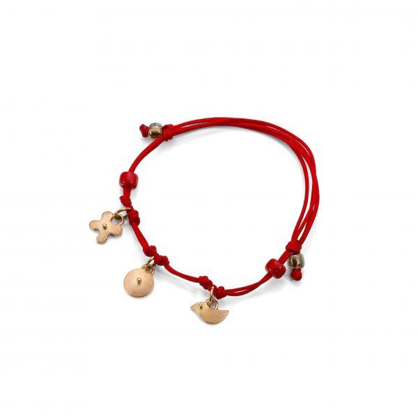 Simboliška sidabrinė apyrankė Red line amulet