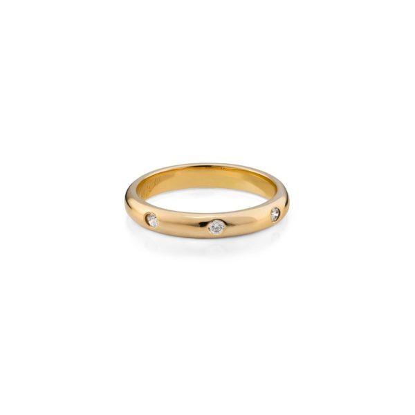 Auksinis Žiedas Class su briliantais, elegantiškas papuošalas įvairioms progoms. Sužadėtuvėms, gimtadieniui ar Vestuvių metinėms.