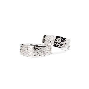 """Vestuviniai Žiedai su Briliantais """"Laurai"""""""