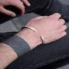 Vyriška, sidabrinė rankų darbo YURGA apyrankė