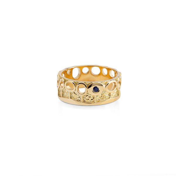 Aukso žiedas Sodas su Safyru, YURGA
