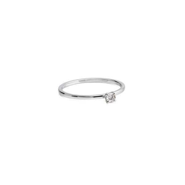 Auksinis žiedas su briliantu Dot