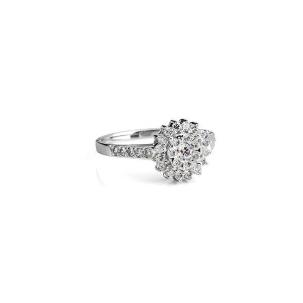 Auksinis žiedas su briliantais Sniego Karalienė, YURGA