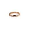 Kalinėtas rozinio aukso žiedas su briliantais, YURGA