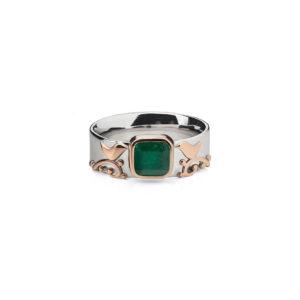 žiedas su Smaragdu Mūsų Langas, YURGA